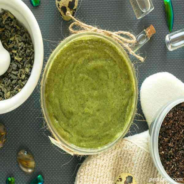 مراحل تهیهاسکراب چای سبز برای پوست