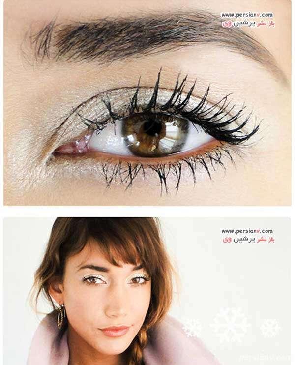 آموزش مرحله به مرحله آرایش چشم با سایه سفید