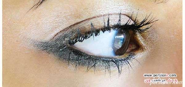 آرایش چشم دودی متفاوت در پلک پایینی چشم