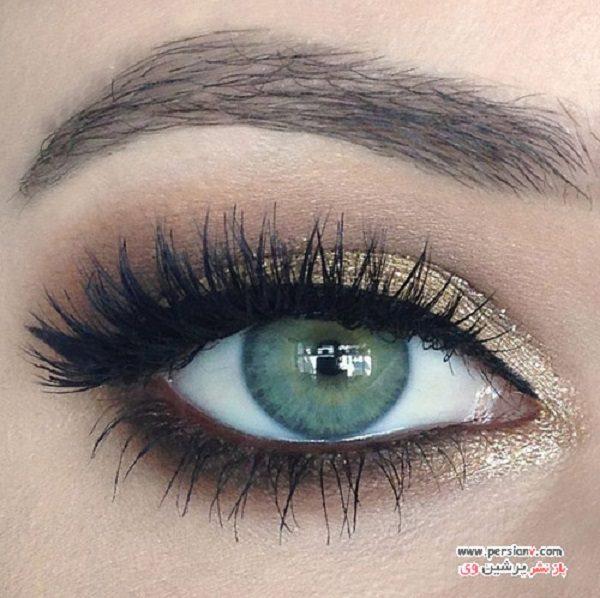 آرایش چشم دودی طلایی