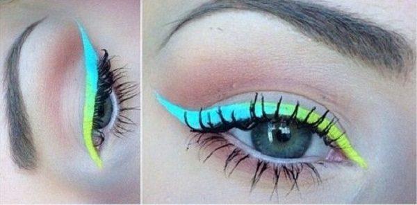 رنگ خط چشم مناسب خود را استفاده کنید تا جلوه ی چشم های شما چند برابر شود+تصاویر