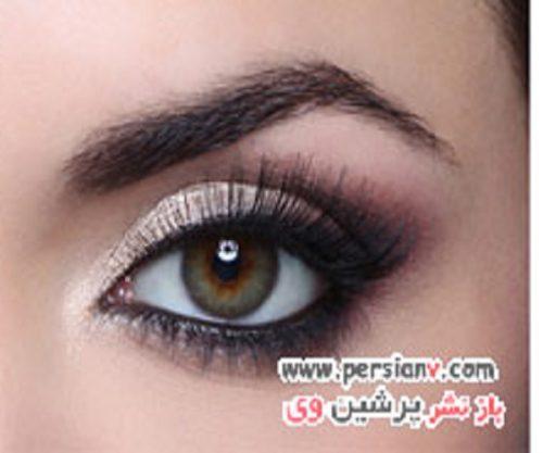 آرایش چشم زیبا و کلاسیک برای لیفتینگ فرم چشم +عکس