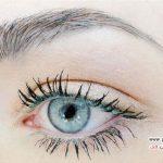 ایده ای زیبا و عالی برای آرایش چشم با ریمل رنگی +عکس