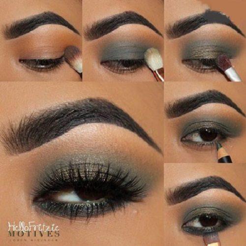 آرایش چشم برای پاییز