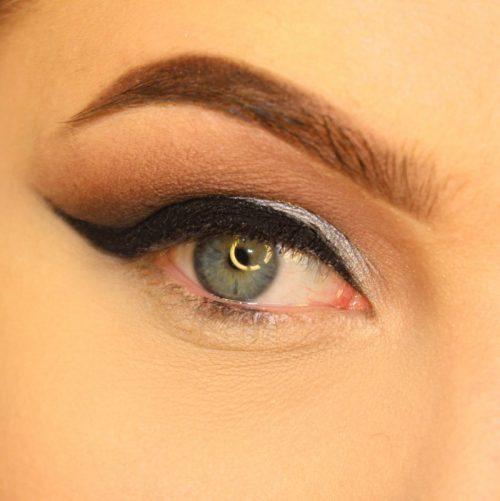 آرایش چشم متالیک