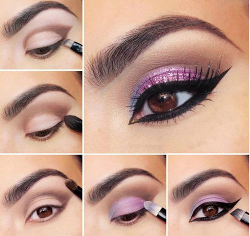 آموزش آرایش چشم مهمانی
