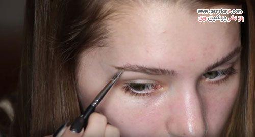 آرایش ابرو با قلم مو