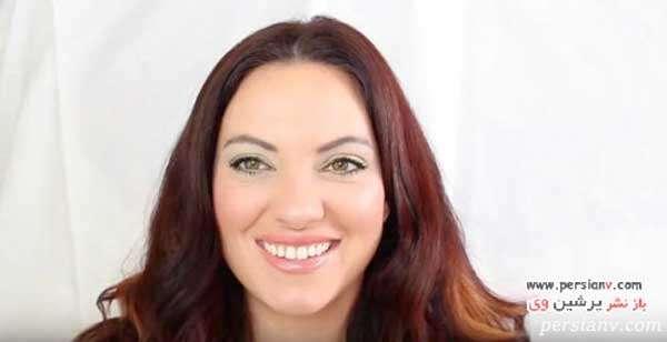 آرایش چشم به رنگ سبز چمنی زیبا و کاربردی