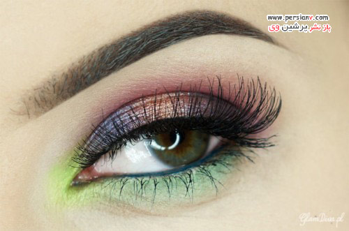 آموزش آرایش چشم گرمسیری مرحله به مرحله با نام دقیق سایه ها +عکس