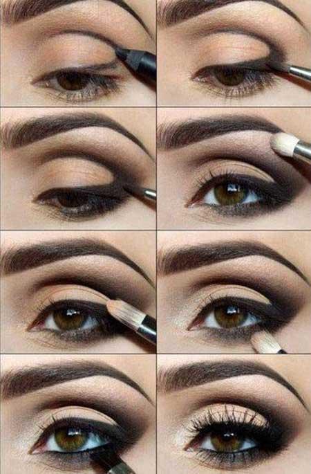 آموزش مرحله به مرحله آرایش مناسب فرم های مختلف چشم+تصاویر