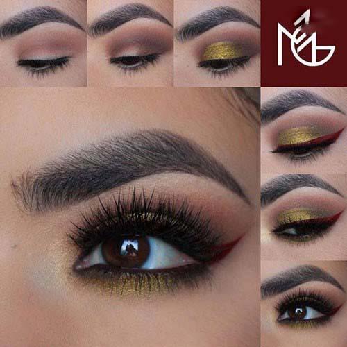 آرایش چشم پاییزی با زیباترین طرح های جذاب پاییزی/آموزش+تصاویر