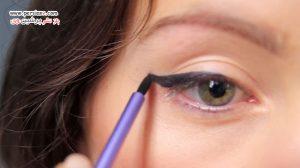 ساخت خط چشم ژله ای بسیار رنگ دار با مواد کاملا طبیعی در منزل