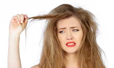 موهاي خشک و وز