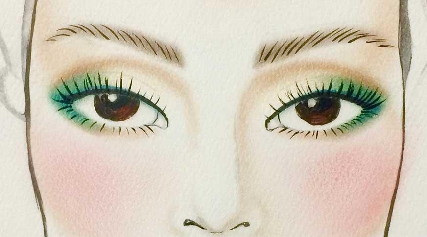 راهنمایی برای انتخاب رنگ خط چشم