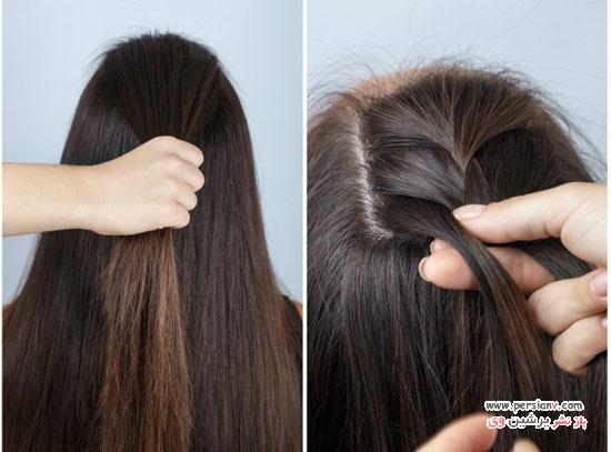 آموزش مدل مو نیمه بافت