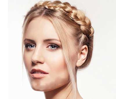 مو زنانه برای صورت های گرد