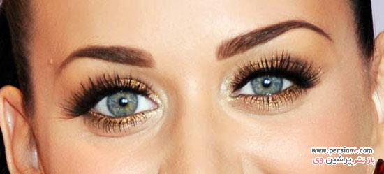 انتخاب خط چشم براساس رنگ چشم
