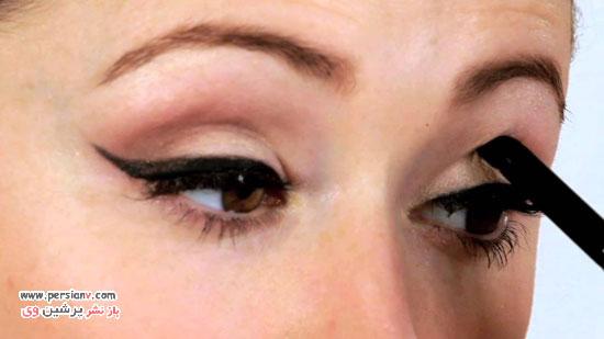 درشت تر کردن چشم ها با آرایش