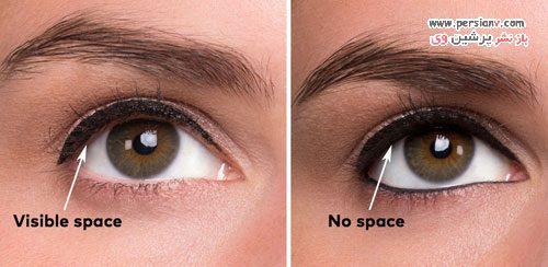 نحوه کشیدن خط داخل چشم