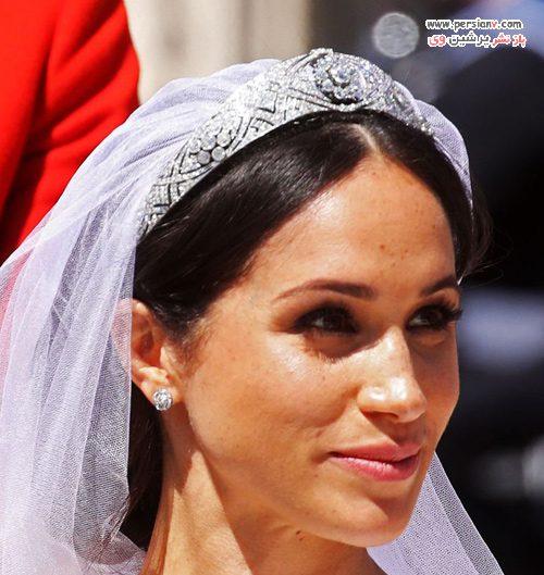 آرایش عروس مگان مارکل
