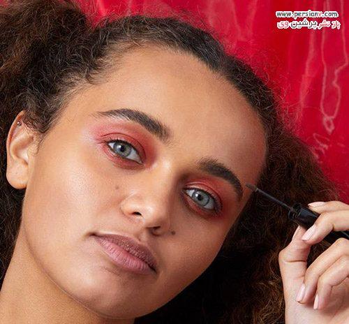 آرایش چشم با سایه قرمز