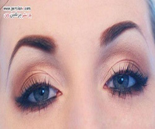 آموزش آرایش چشم پنج دقیقه ای با جلوه ای طبیعی +عکس مرحله به مرحله