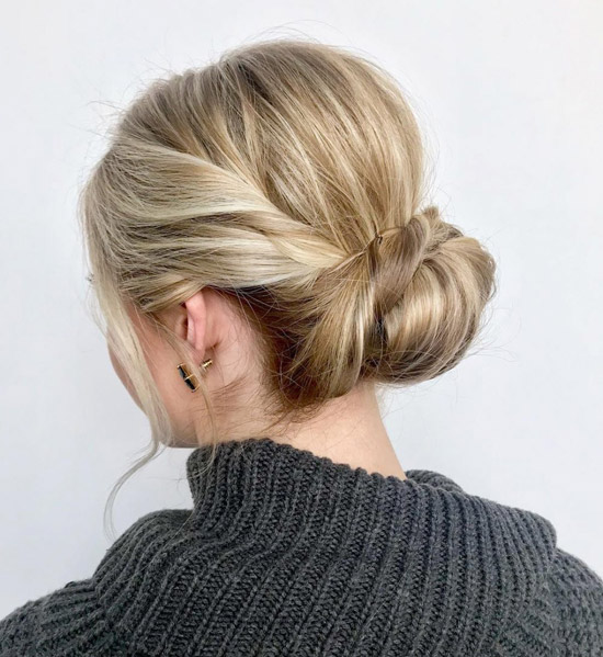 آموزش شینیون مو ساده و شیک تنها در پنج مرحله