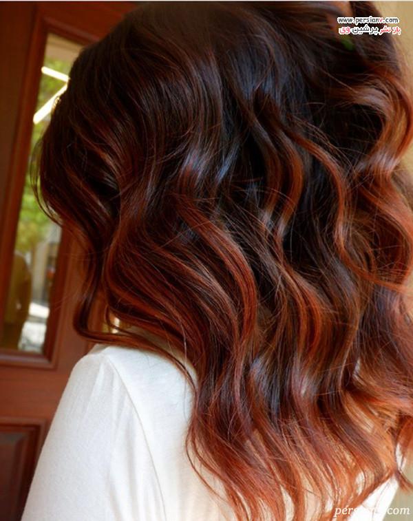 رنگ مو قهوه ای قرمز