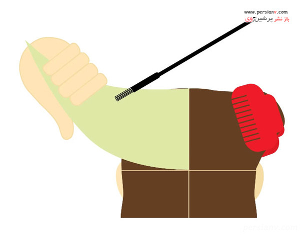 رنگ کردن رج اول مو از بخش اول