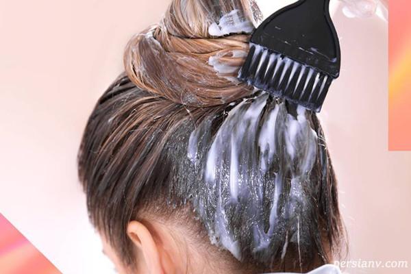 آموزش تقسیم بندی مو برای رنگ و نحوه ترکیب و رنگ کردن مو در منزل