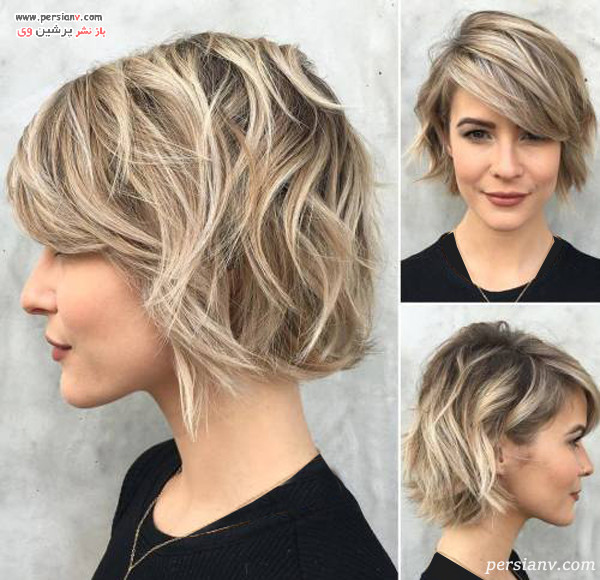مدل مو کوتاه زنانه بلوند