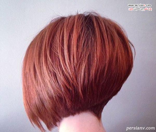 مدل مو کوتاه با رنگ مو قرمز