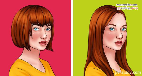 آموزش کوتاهی موی بلند در خانه