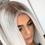 رنگ مو یخی و یا بلوند سفید در استایل و طیف های مختلف