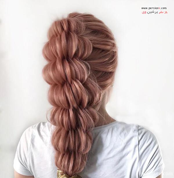 بافت مو پهن