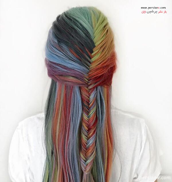 مدل مو رنگارنگ