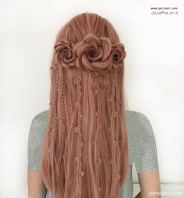 مدل مو به شکل گل