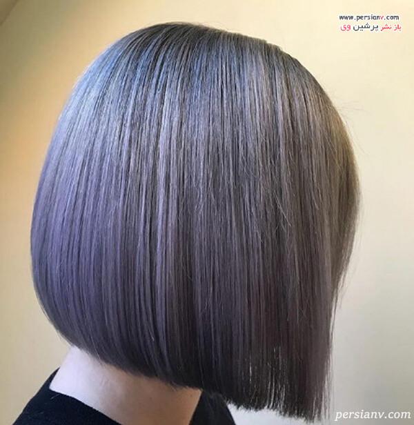 مدل رنگ مو خاکستری روشن