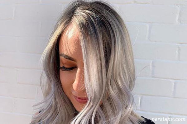 رنگ مو بالیاژ نقره ای در طیف های دودی خاکستری و روشن