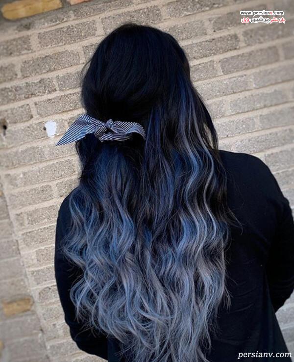 رنگ مو بالیاژ نقره ای