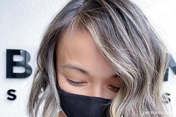 بالیاژ برای موهای کوتاه با رنگ موهای مختلف