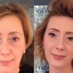 آرایش قبل و بعد صورت خانم های جا افتاده با تاثیر کم شدن سن