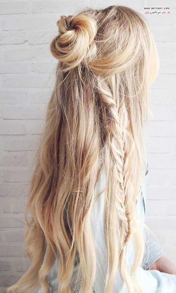 مدل مو بافت برای موهای بلند