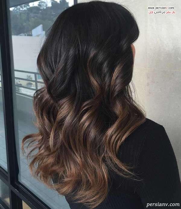 انواع رنگ مو آمبره