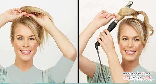 نتیجه آخر فر کردن مو با روش دم اسبی